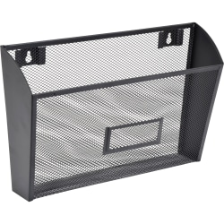 Lorell® Mesh Single Wall Pocket, Letter Size, Black