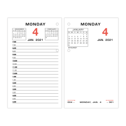 "AT-A-GLANCE Daily Loose-Leaf Desk Calendar Refill, 3-1/2"" x 6"", January To December 2021, E01750"