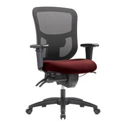WorkPro® 9500XL Series Big And Tall Mesh/Fabric Mid-Back Multifunction Office Chair, Burgundy/Black
