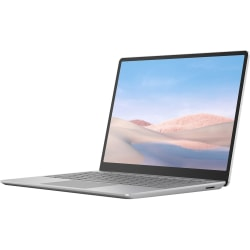 "Microsoft Surface Laptop Go 12.4"" Touchscreen Notebook - 1536 x 1024 - Intel Core i5 (10th Gen) i5-1035G1 - 8 GB RAM - 128 GB SSD - Platinum - Intel UHD Graphics - PixelSense - 13 Hour Battery Run Time"