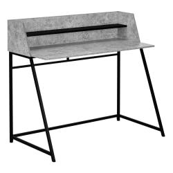 """Monarch Specialties Mattie 48""""W Computer Desk, Gray/Black"""