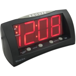 Westclox Table Clock - Digital - Electric