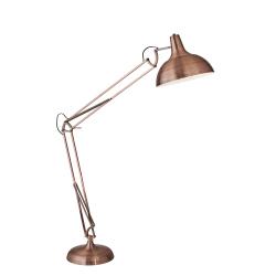 "Adesso® Atlas Floor Lamp, 77""H, Brushed Copper Shade/Brushed Copper Base"