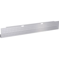 "Lorell® Training Table Steel Silver Modesty Panel, 66""W, Metallic Silver"