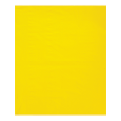 """Office Depot® Brand Flat 2-Mil Poly Bags, 15"""" x 18"""", Yellow, Case Of 1,000"""