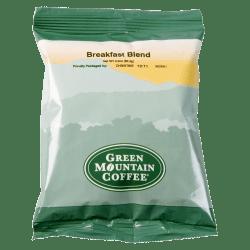 Green Mountain Coffee® Breakfast Blend Coffee, Portion Single-Serve Packets, Carton Of 100