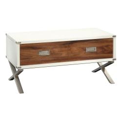 Sauder® Vista Key Lift-Top Coffee Table, Pearl Oak/Blaze Acacia