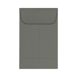 """LUX Coin Envelopes, #1, 2 1/4"""" x 3 1/2"""", Smoke, Pack Of 50"""