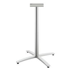 "HON Between X-Base, Standing Height - Silver X-shaped Base - 41"" Height - Assembly Required"