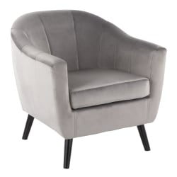 LumiSource Rockwell Contemporary Accent Chair, Black/Silver