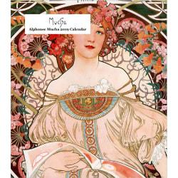 "Retrospect Monthly Desk Calendar, Alphonse Mucha, 6-1/4"" x 5-1/4"", Multicolor, January to December 2019"