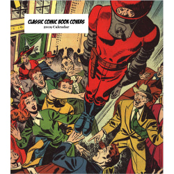 "Retrospect Monthly Desk Calendar, Classic Comic Book Covers, 6-1/4"" x 5-1/4"", Multicolor, January to December 2019"