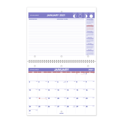 """At-A-Glance® Monthly Desk/Wall Calendar, 8-1/2"""" x 11"""", January To December 2021, PM17028"""