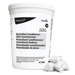 Diversey™ Floor Conditioner/Odor Counteractant, Unscented, 90 Packets Per Tub, Case Of 2 Tubs