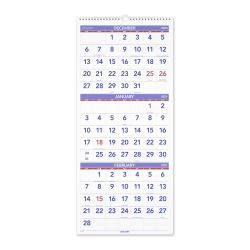 "AT-A-GLANCE® Business Monthly Wall Calendar, 12"" x 27"", January To December 2021, PM1128"