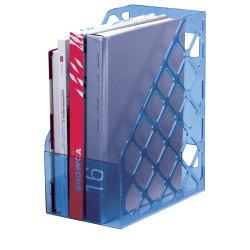 """Officemate Blue Glacier Large Magazine File, 11 3/4"""" x 6 1/8"""" x 9 1/2"""", Blue"""