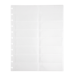 TUL® Discbound Notebook Business Card Pages, Letter Size, Clear, 14 Pockets Per Page, Pack Of 3 Pages
