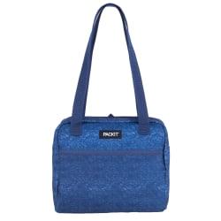 "PackIt® Freezable Hampton Lunch Bag, 8-1/2""H x 10-1/2""W x 7-3/4""D, Heather Navy"