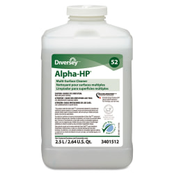 Diversey™ Alpha-HP® Concentrated Multi-Surface Cleaner, Citrus Scent, 83.2 Oz Per Bottle, Case Of 2 Bottles
