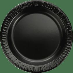 """Dart Quiet Classic Laminated Dinnerware Plates, 9"""", Black, Pack Of 500"""