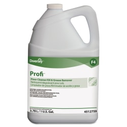 Diversey™ Profi™ Floor Cleaner And Grease Remover, 128 Oz Per Bottle, Case Of 4 Bottles