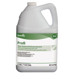 Diversey™ Profi™ Floor Cleaner And Grease Remover, 128 Oz Per Bottle, Case Of 4 Bottles