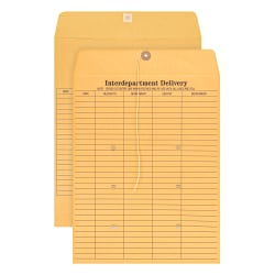 """Office Depot® Brand Interdepartment Envelopes, 10"""" x 13"""", Brown, Box Of 100"""