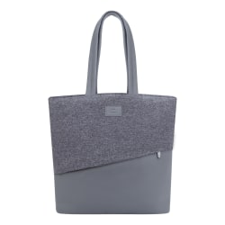 """RIVACASE 7991 Egmont Tweed Tote Bag With 13.3"""" Laptop Pocket, Gray"""