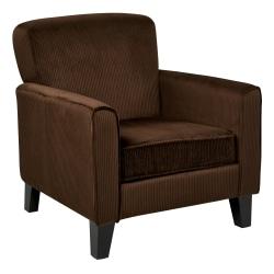 Ave Six Sierra Arm Chair, Corduroy Coffee/Espresso