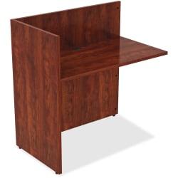 "Lorell® Essentials Series Reception Desk Return, 41-1/2""H x 42""W x 24""D, Cherry"