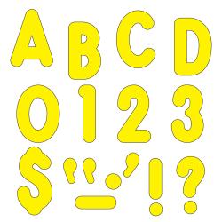 "TREND Ready Letters®, Billboard, 7"", Yellow, Pre-K - Grade 12, Pack Of 105"