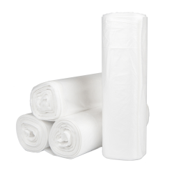 "Inteplast HDPE Can Liners, 12 Microns, 40"" x 48"", Natural, Pack Of 250 Liners"