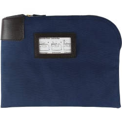 """Sparco Locking Currency Bag - 8.50"""" Width x 11"""" Length - Navy - 1/Pack - Coin, Currency, Document"""