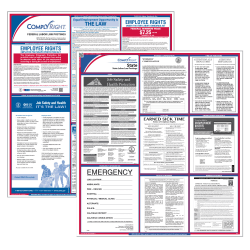 "ComplyRight™ Connecticut Federal/State Labor Law Poster Kit, Hotel Industry, 37"" x 24"""