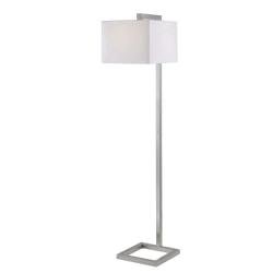 """Kenroy Home 4 Square Floor Lamp, 64""""H, Brushed Steel"""