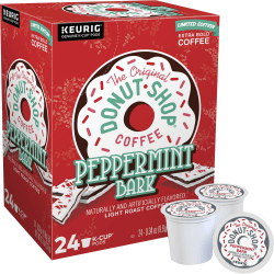 The Original Donut Shop® Peppermint Bark Single-Serve K-Cup®, Carton Of 24