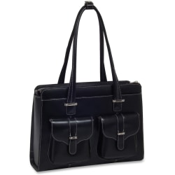 McKleinUSA Alexis Leather Ladies Briefcase, Black