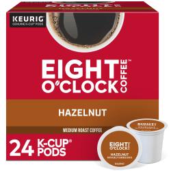 Eight O'Clock® Single-Serve Coffee K-Cup®, Hazelnut, Carton Of 24