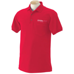 Jerzee® Screen-Printed 50/50 Short-Sleeved Polo Shirt
