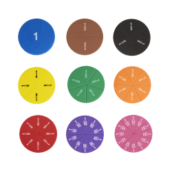 Office Depot® Brand Magnetic Fraction Circles, Assorted Colors, Pre-K, Set Of 51 Circles