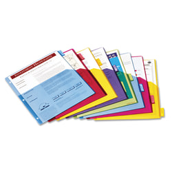 Cardinal Extra-tough Poly Dividers, Letter Size, 3 Hole Punched, Multicolor, 8 Tabs Per Set, Pack Of 4 Sets