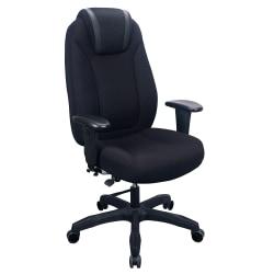WorkPro® Maverick Multifunction Ergonomic Fabric High-Back Chair With Headrest, Black