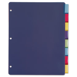 """Cardinal Extra-tough Poly Dividers - 8 Tab(s)/Set - Letter - 8 1/2"""" Width x 11"""" Length - 3 Hole Punched - Polypropylene Divider - Multicolor Tab(s) - 32 / Pack"""