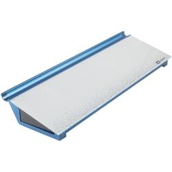 "Quartet Dots Glass Dry-Erase Desktop Computer Pad - 18"" (1.5 ft) Width x 6"" (0.5 ft) Height - White/Blue Glass Surface - Rectangle - Horizontal - Desktop - 1 Each"