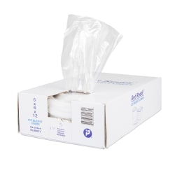 """Inteplast LLDPE Ice Bucket Liners, 0.5 mil, 6""""H x 6""""W x 12""""D, Natural, Pack Of 1,000 Liners"""