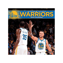 "Turner Sports Monthly Wall Calendar, 12"" x 12"", Golden State Warriors, January to December 2019"