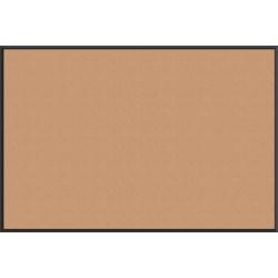 "U Brands Non-Magnetic Cork Bulletin Board, 72"" x 48"", Aluminum Frame With Black Finish"