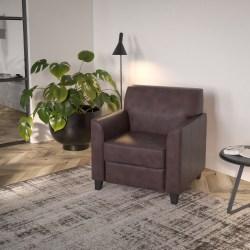 Flash Furniture Hercules Diplomat Bonded LeatherSoft™ Chair, Brown