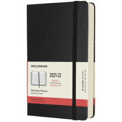 """Moleskine 18-Month Softcover Weekly Planner, 7-1/2"""" x 9-3/4"""", Black, July 2021 To December 2022"""