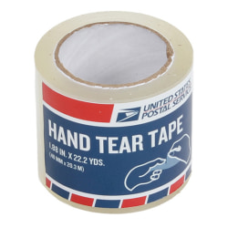 """United States Post Office Shipping Tape, 1.88"""" x 22 Yd., Clear"""